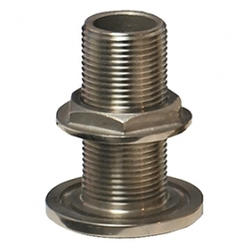 """GROCO 1/2"""" NPS NPT Combo Stainless Steel Thru-Hull Fitting w/Nut"""