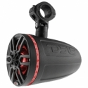 """DS18 Hydro 6.5"""" Neodymium Wakeboard Speakers w/1"""" Driver and RGB LED Lights - 450W - Black"""