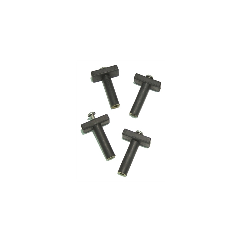 Pack of 4 Trolling Motor and Accessory Mounting Isolators and Bolts for Boats