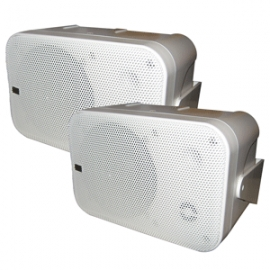 Poly-Planar Box Speakers - (Pair) White