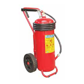 50 Kg Powder Extinguisher, Wheeled, Cartridge, A.B.S